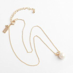 Kate Spade Simple Pearl Short Chain Necklace